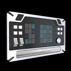 sci fi comand panel 3D model