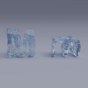 3D letter m model