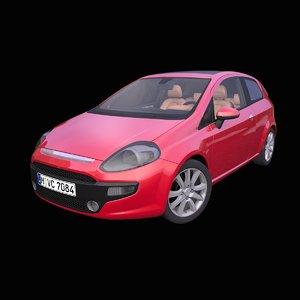 generic hatchback interior car 3D model