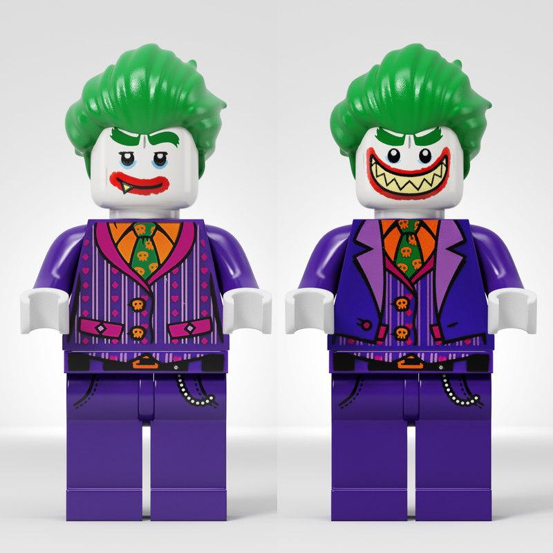 Lego joker 3D model - TurboSquid 1373885