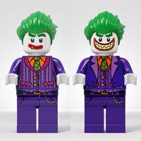 lego joker 3D model