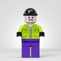 3D model lego joker team