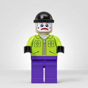 3D model lego joker team
