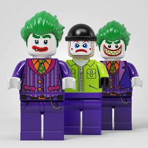3D lego joker team