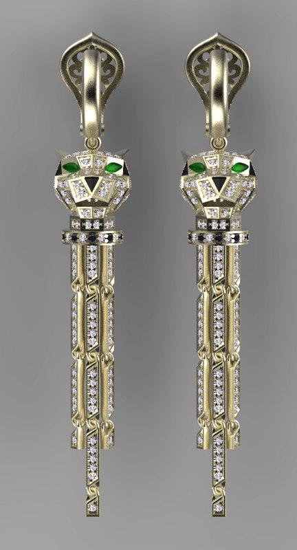 3D earrings ring