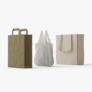 3D bags plastic paper fabric