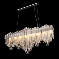 3D model chandelier crystal lux city lights