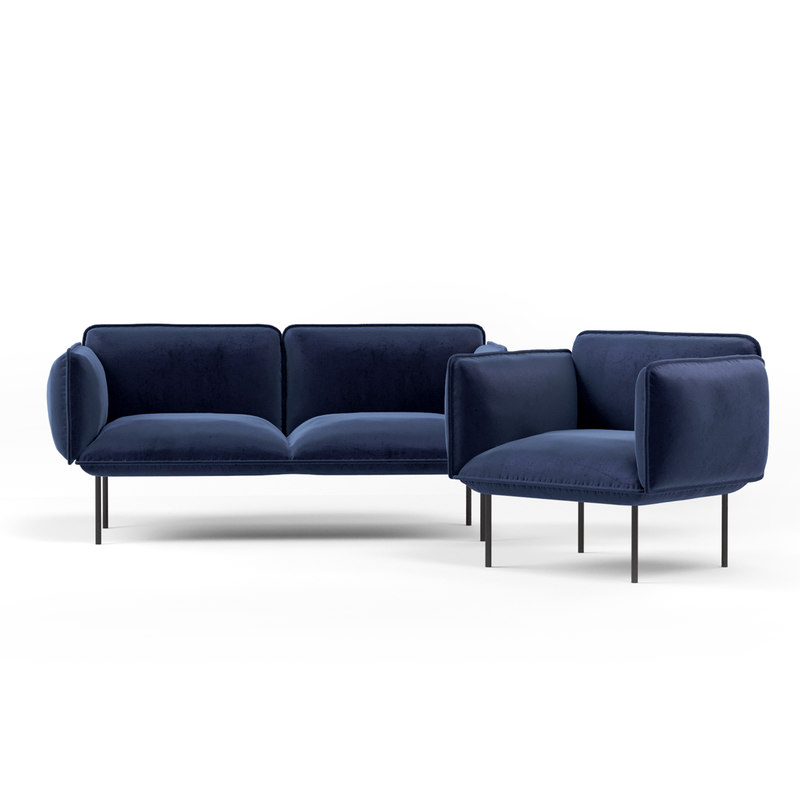 sofa seating nakki 3D model