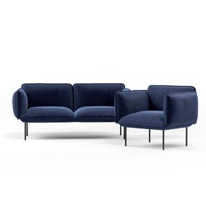 sofa seating nakki 3D model