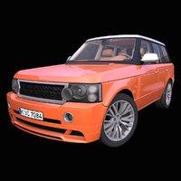 3D generic british suv interior car