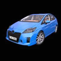 generic hybrid hatchback interior car 3D model