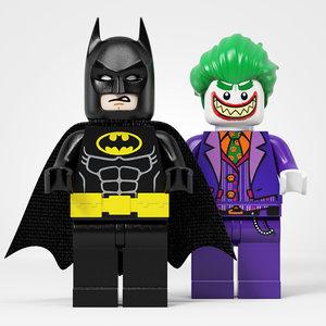 3D lego batman vs joker