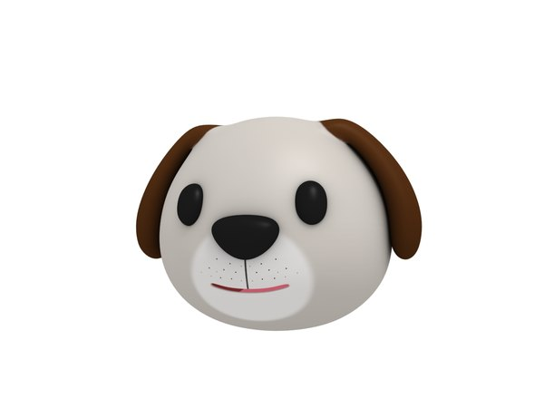 3D dog head