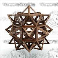 icofiexaedron apotetmimenon cenon 3D model