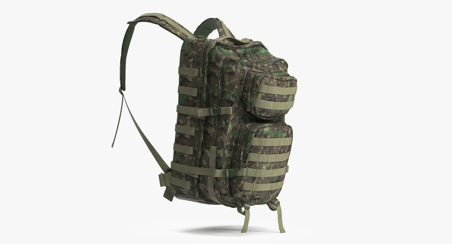 3D military backpack model