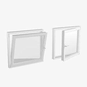 pvc window 100x90 3D model