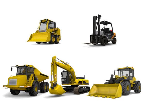 truck games excavator loader 3D model