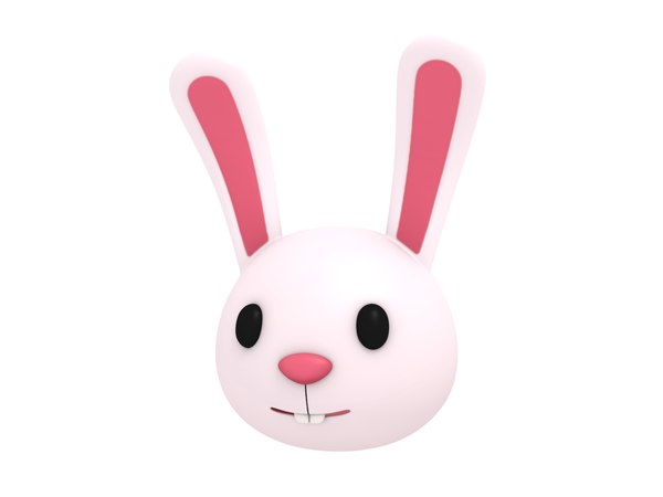 rabbit head cartoon 3D model