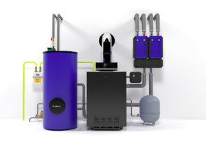 3D boiler plant buderus g124-32 model