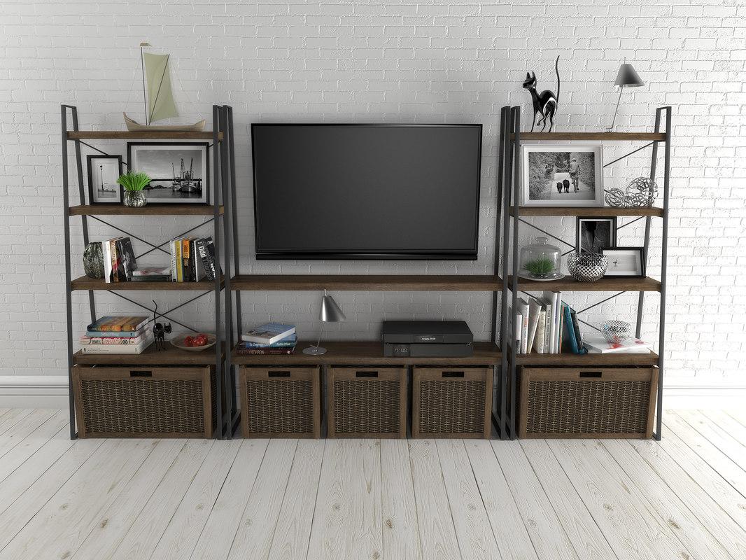 shelves interior furniture 3D model