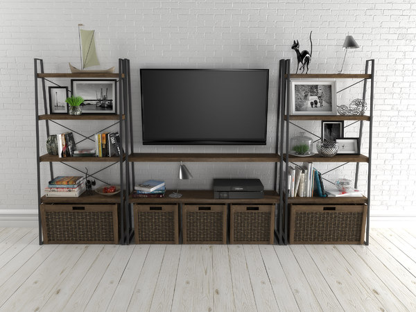 shelves interior furniture 3D model