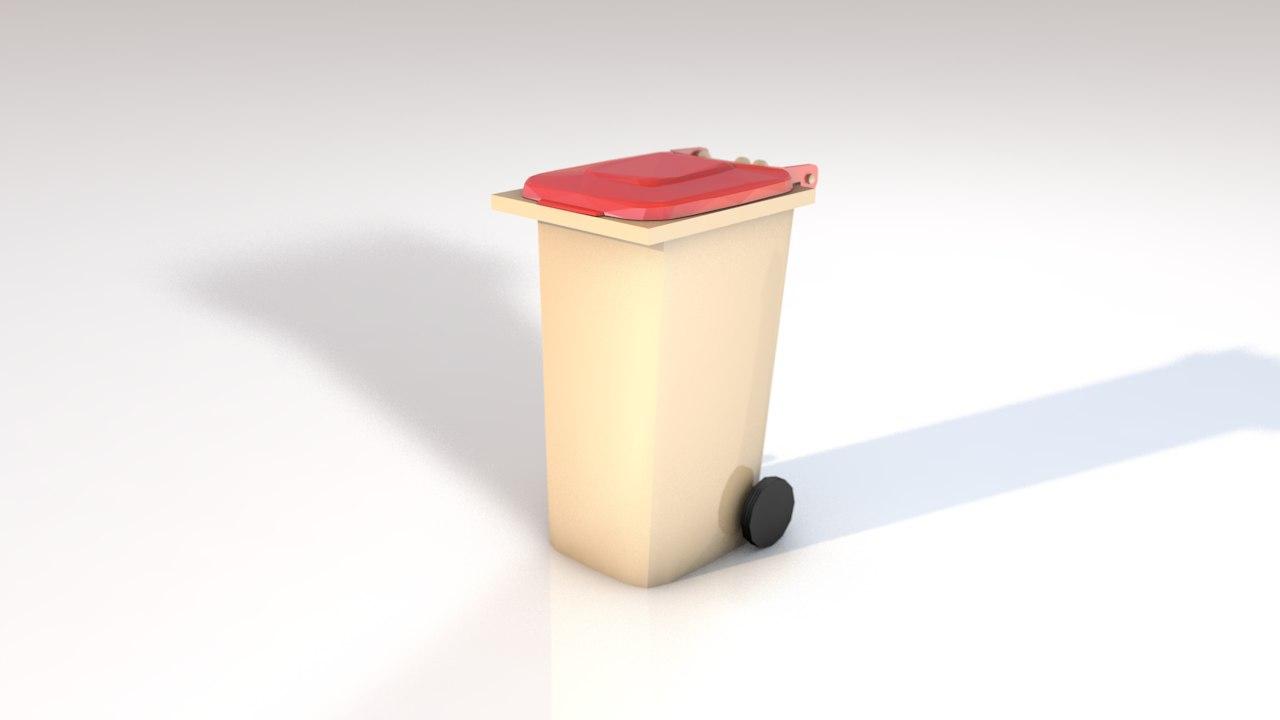 plastic trash model