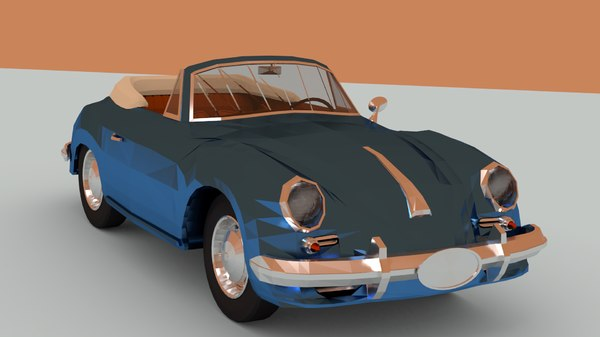 porsche 356 cabriolet 1964 3D model