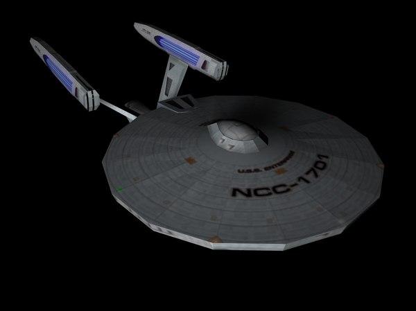 3D model uss enterprise refit