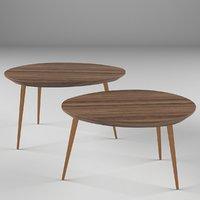 "Maddox 30"" Mid-Century Modern Coffee Table"