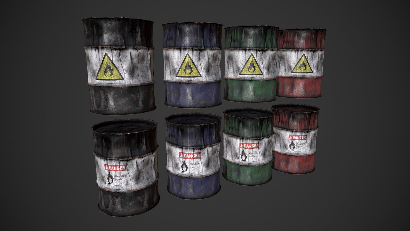 3D pbr barrel model