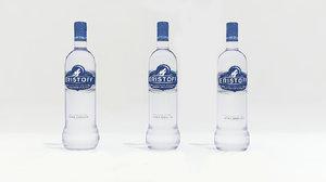 eristoff alcohol bottle 3D