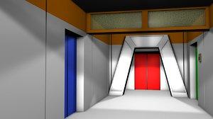 gangway uss enterprise 3D model