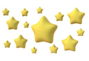 3D stars scene