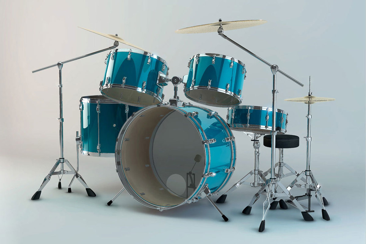 drum drumkit instrument 3D model