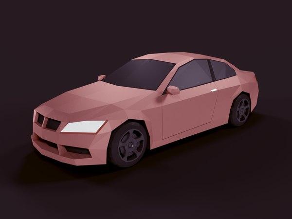 3D blender car