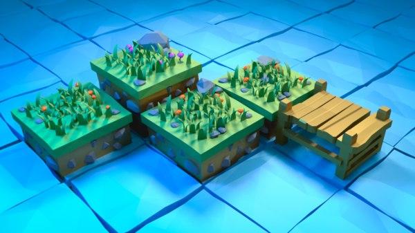 3D tile plants water