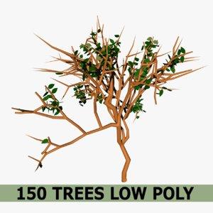 150 trees 3D model