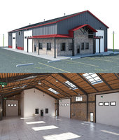 Warehouse Office interior and exterior