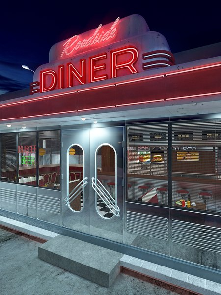 diner vintage roadside model