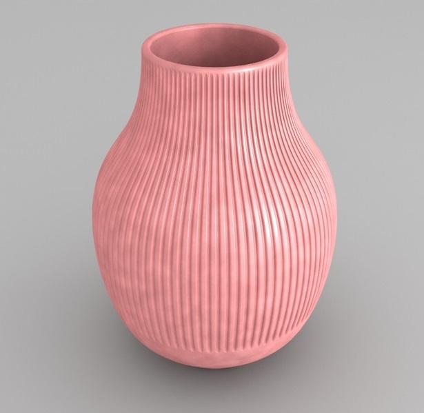 gradvis vase pink 3D