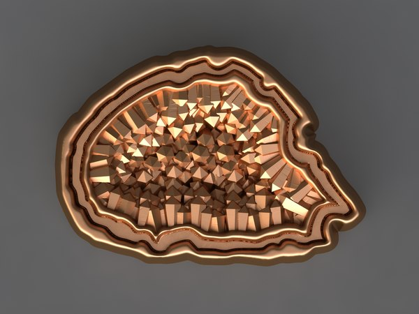 3D agate mold hand model
