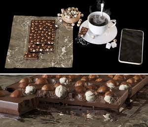 set coffee chocolate 3D model