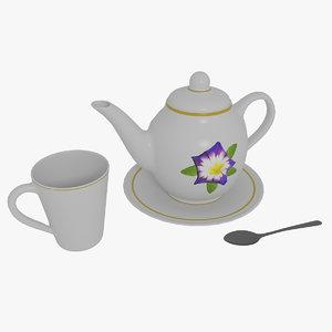 tea-set tea set 3D model