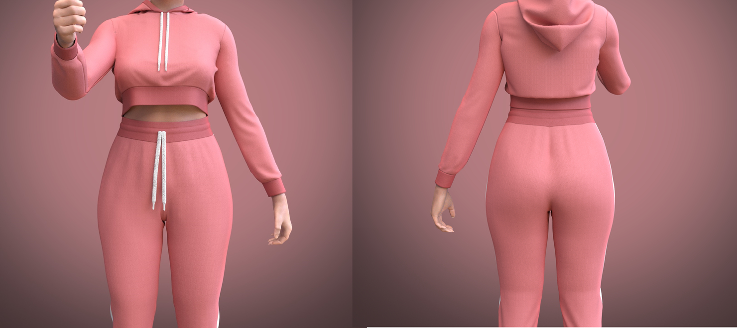 tracksuit female 3D