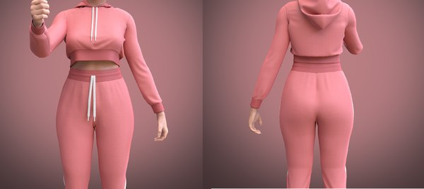 tracksuit female 3D