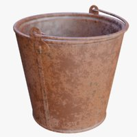 3D rusty bucket rust 12 model