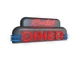 diner neon sign 3D
