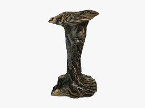 3D tangled roots column model