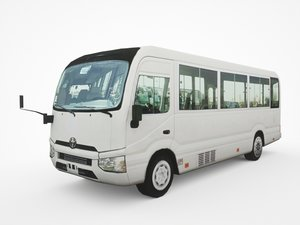 3D 2016 toyota coaster deluxe model