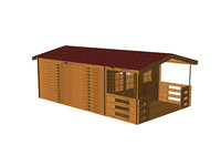 3D gardening wooden cottage